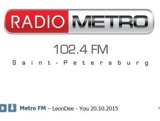 "Студия звукозаписи Goldman Records представляет ""LeonDee - You"" на Радио МЕТРО FM, 102.4 F"