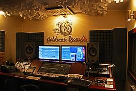 Контрольная комната Студия звукозаписи Goldman Records Москва место звукорежиссера