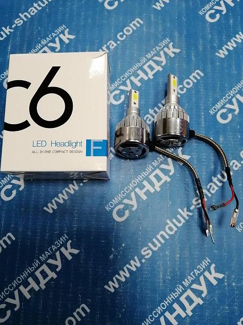 Лампа автомобильная светодиодная C6 H3 36W 2 шт.