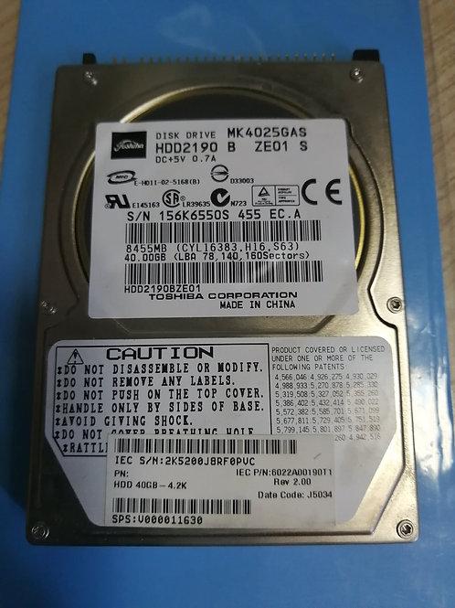 Жесткий диск Toshiba   MK4025GAS  