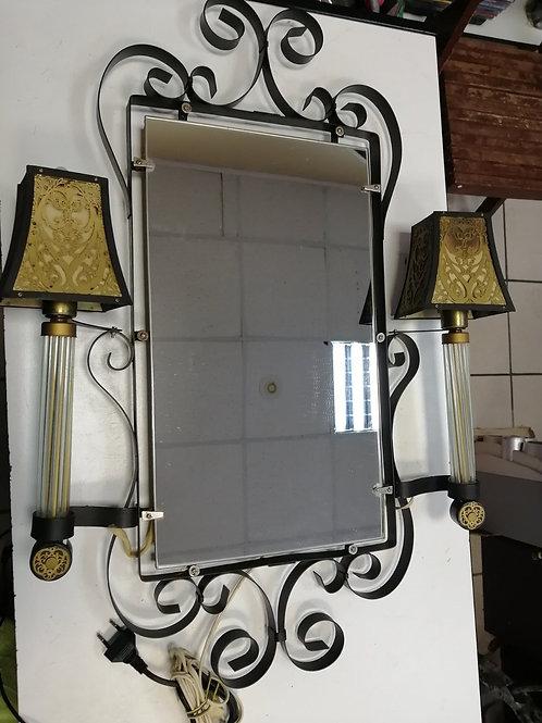 Винтажное зеркало - светильник