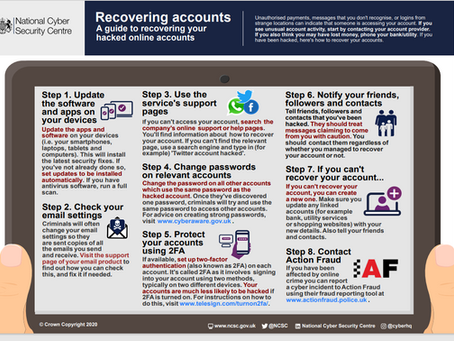 8 steps from the NCSC to recovering a hacked account