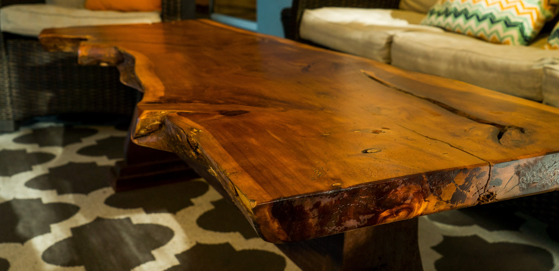 Live Edge Coffee Table Close Up