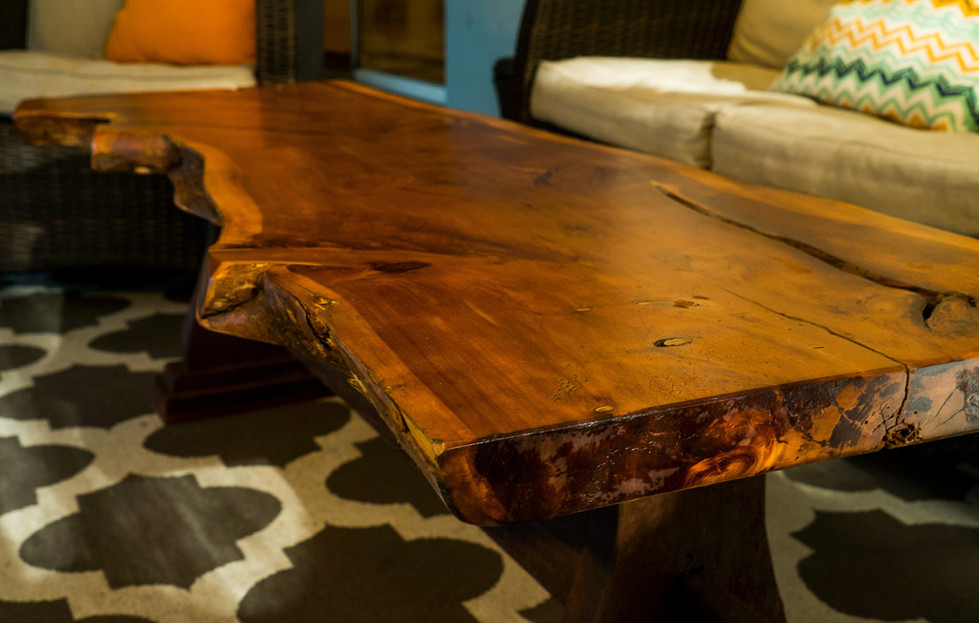 Live Edge Coffee Table Close Up