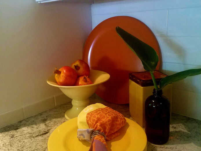 Orange Kitchen Vignette
