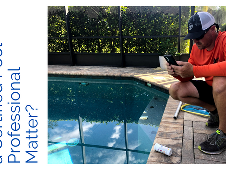 Why Does Having a Certified Pool Professional Matter?