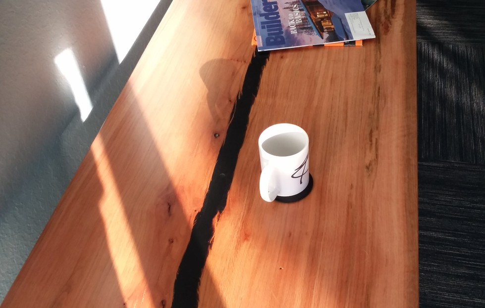 Live Edge Coffee Table w/ Black Epoxy River 2