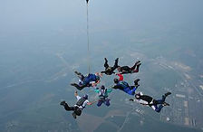 Photo of a tandem skydive and fomation