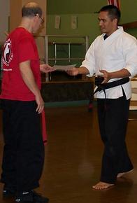 Receiving my black belt.