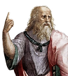 "Portrait of Plato from Raphael's painting ""School of Athens"""