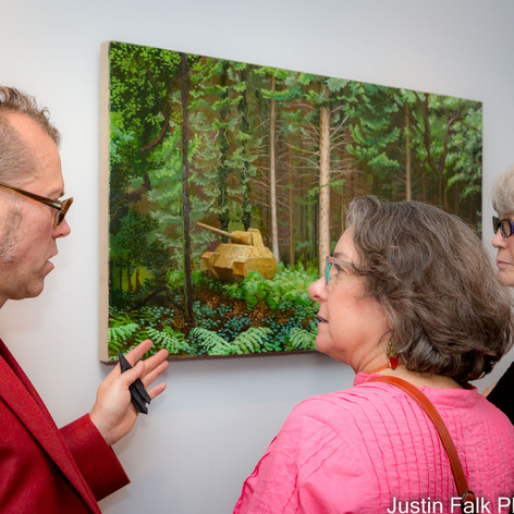 John Jacobsmeyer sharing his painting