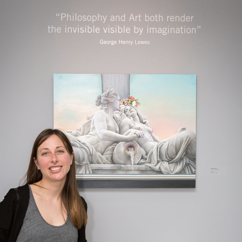 Melissa Anderson with her painting