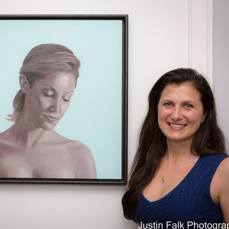 Stefania Panepinto with her painting