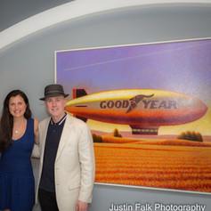 Janice Faber, Joe Rodrigues, Stefania Panepinto, Peter Drake with his painting