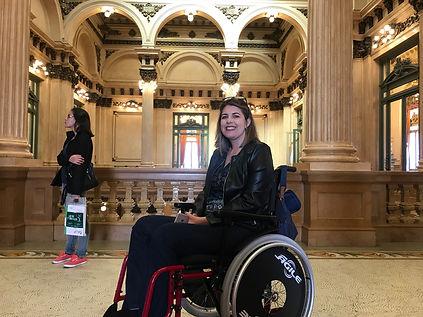 Cadeirante no Teatro Colón