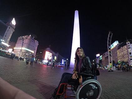 Cadeirante no Obelisco