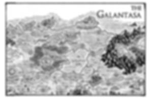 Galantasa Map Allentria from Dragon Speaker book 1 of The Shadow War Saga by Elana A. Mugdan artwork by atelierMUSE