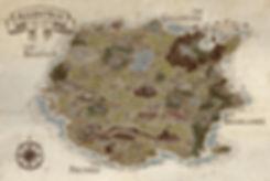 Map of Allentria part of Dragon Speaker book 1 of The Shadow War Saga by Elana A. Mugdan artwork by atelierMUSE