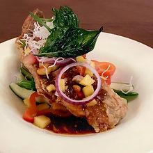 Snapper with Thai Mango Salsa