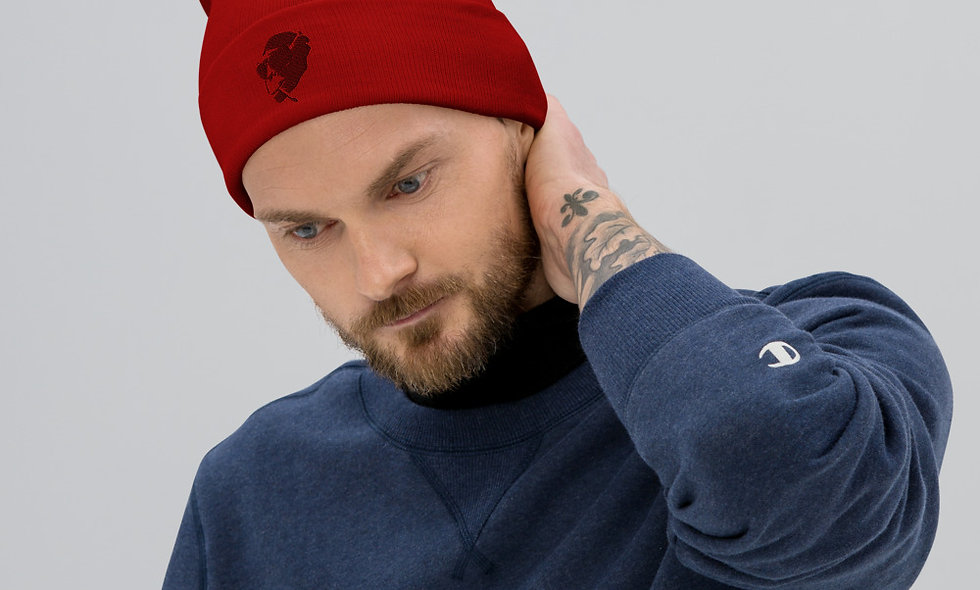 AudioMonkeys Logo Beanie Red
