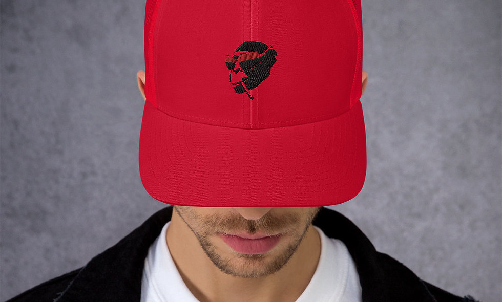 AudioMonkeys Trucker Cap Red