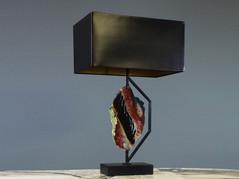 Black Jasper Table Lamp