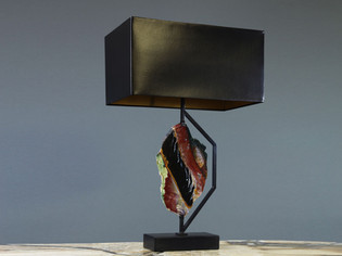 Black Jasper Table Lamp