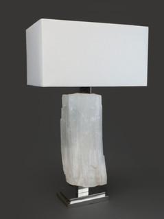 Ice rock Selenite Lamp