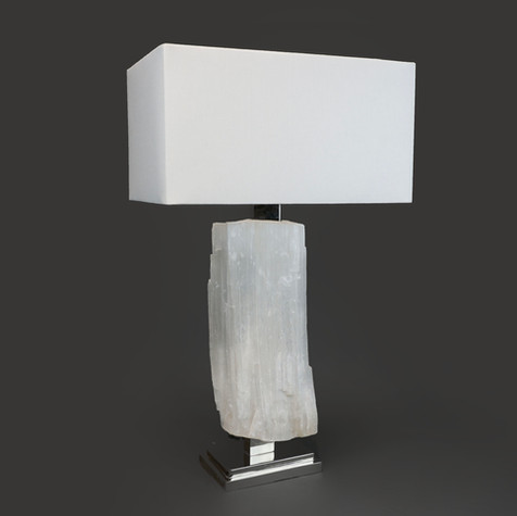 Ice rock Selenite Lamp