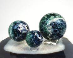 Fluorite Sphere Trio