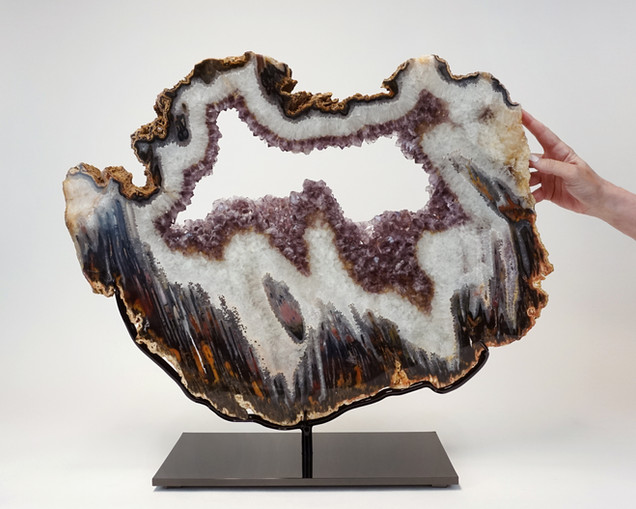 Mounted Agate with Amethyst druze
