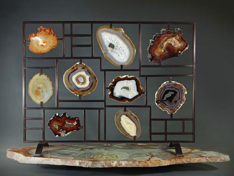 Agate fire screen