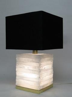 Aria Cube Selenite Lamp