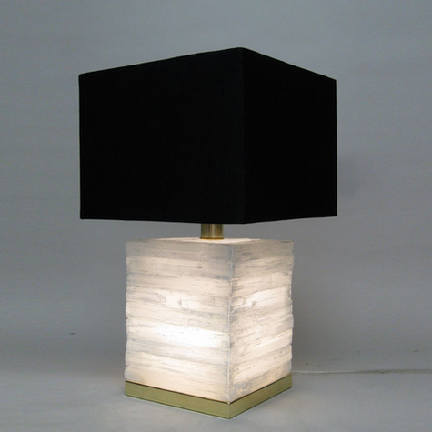 Aria Cube Selenite Lamp
