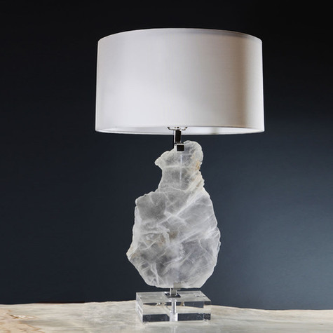Floating Selenite Lamp