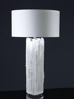 Selenite Cylinder Table Lamp