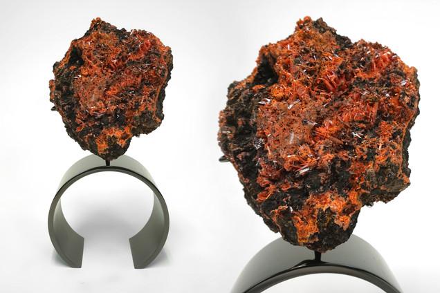 Crocoite Ring Sculpture