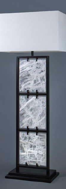 Framed Selenite Floor Lamp