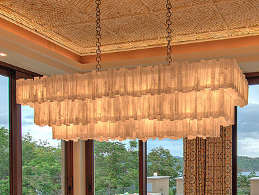 Giant 3 tier Rectangle Selenite Chandelier
