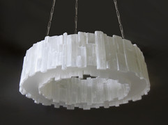 Dual Sided Hoop Selenite Chandelier