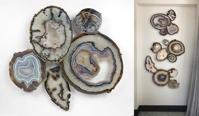 Agate wall Sculpture
