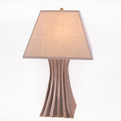 Pleated Ceramic Table Lamp
