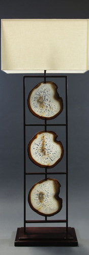 Framed Agate Floor Lamp