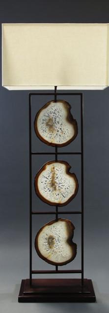 Framed Agate Floor Lamp