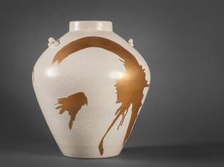 Gold Splash Vase