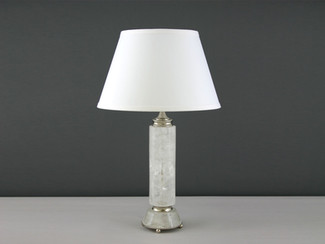 Cylinder Rock Crystal Lamp