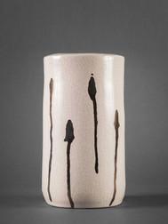 Cylinder ceramics vase