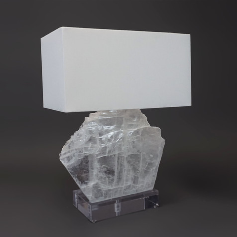 Selenite Sail Table Lamp