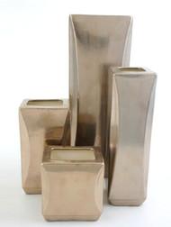 Sculpted block Vases