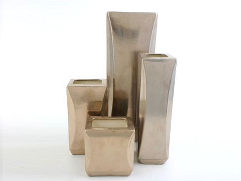 Sculpted block Vases